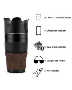 Auto Multi Function Cup Car Holder Organizer 5 In 1 OEM